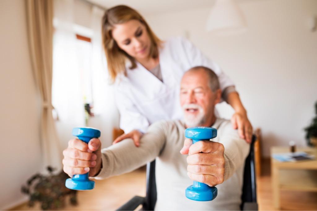 post illness hospital stay rehabilitation at home